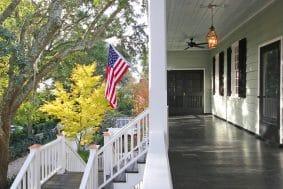 209 Bennett Street front porch flag