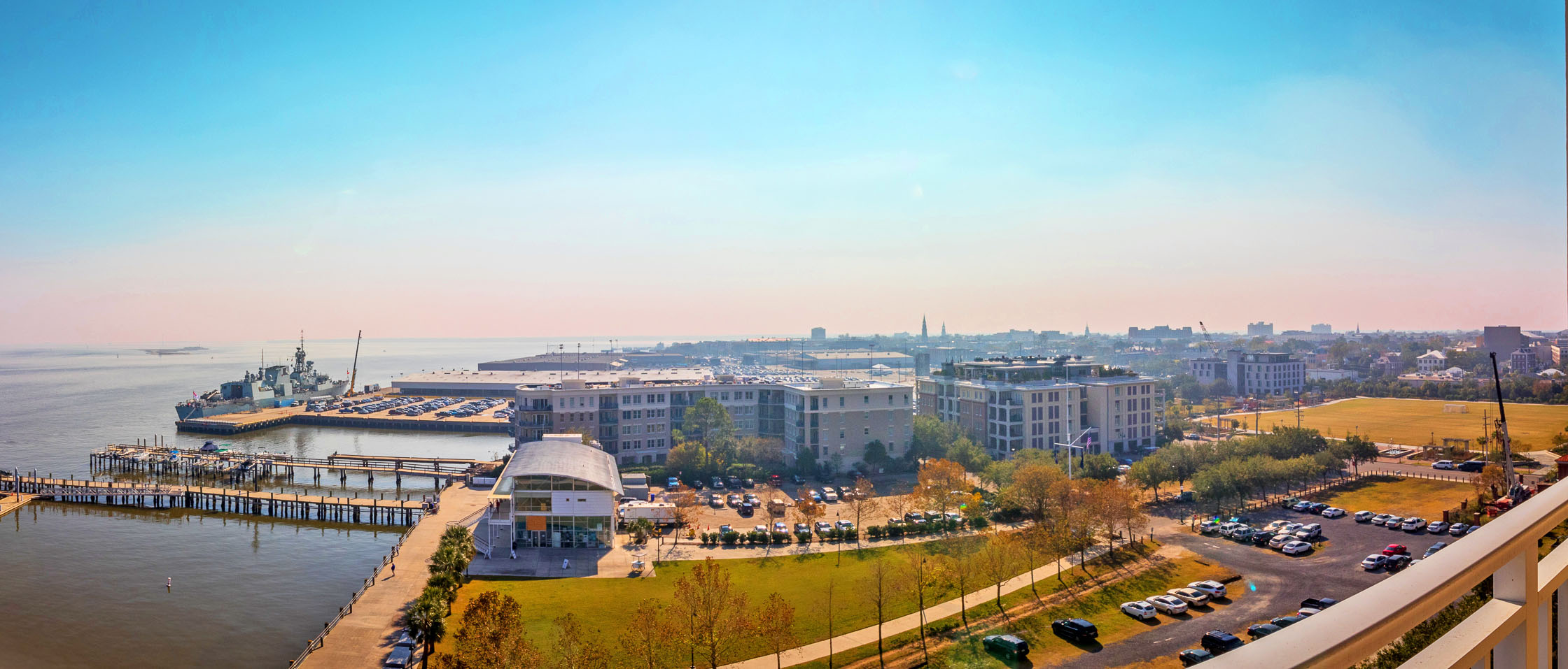 330 Concord Street FG, Dockside panoramic balcony view