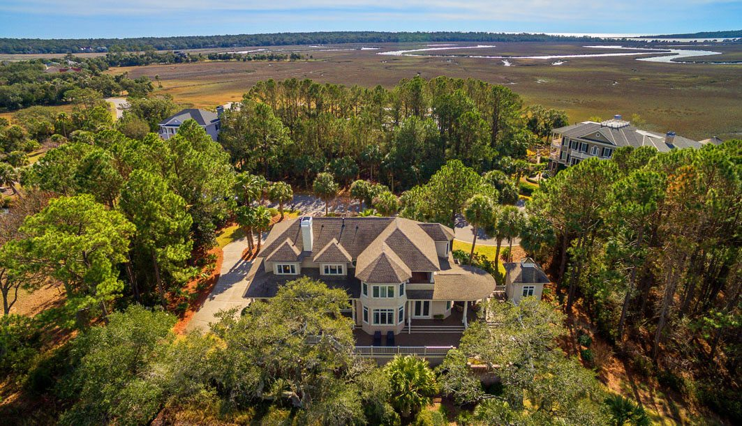 1405 Nancy Island Drive, Seabrook Island aerial view with marsh