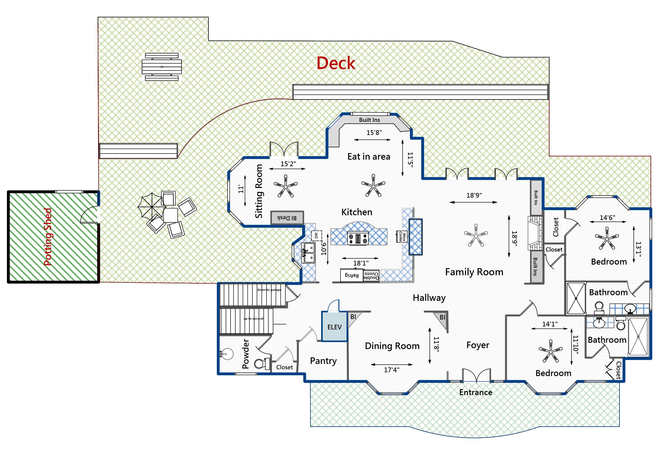1405 Nancy Island floor deck