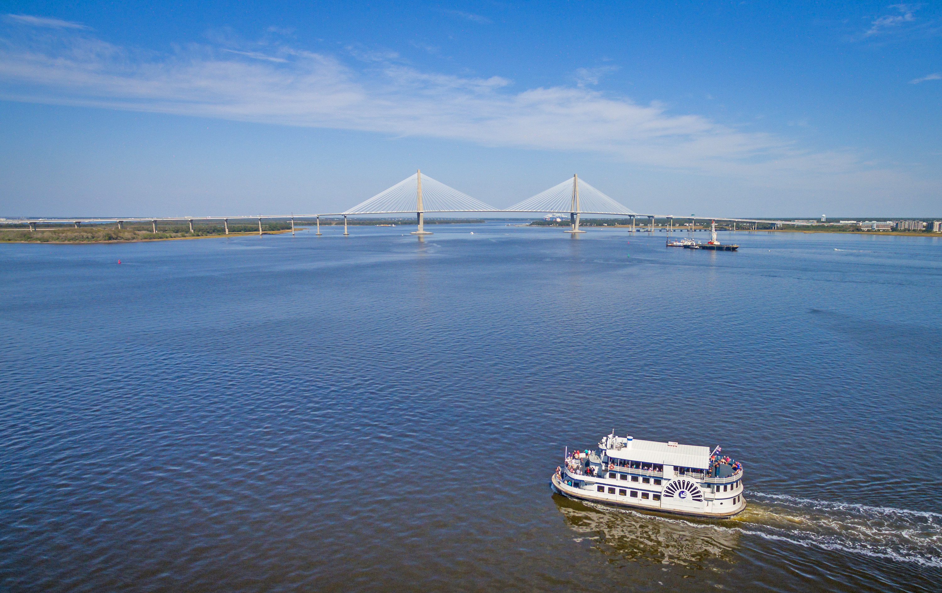 Charleston Harbor & Ravenel bridge