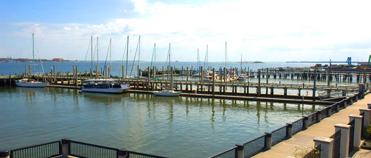Dockside marina