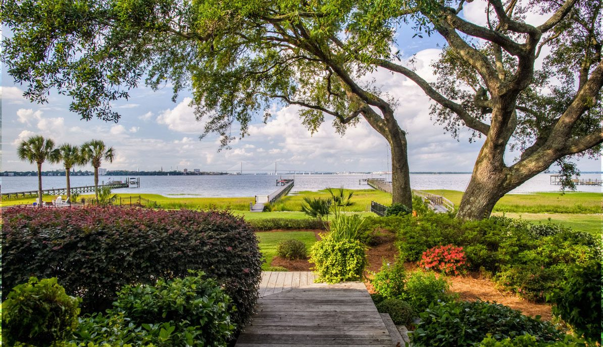 Charleston Harbor view from James Island