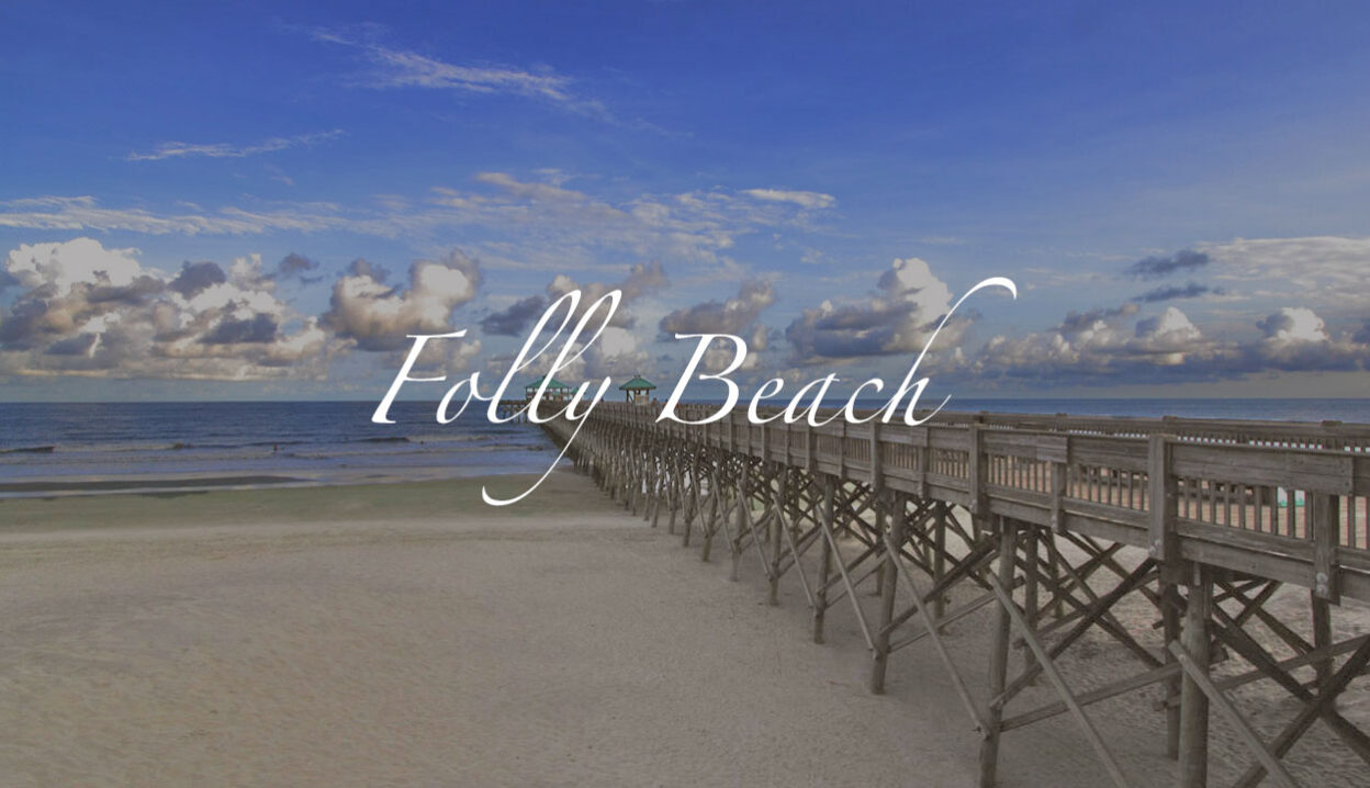 Folly Beach Pier and ocean, Charleston, SC