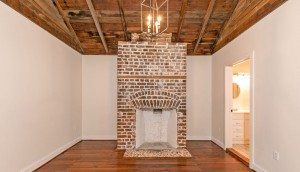 9 Bogard Street master bedroom fireplace and vaulted ceiling