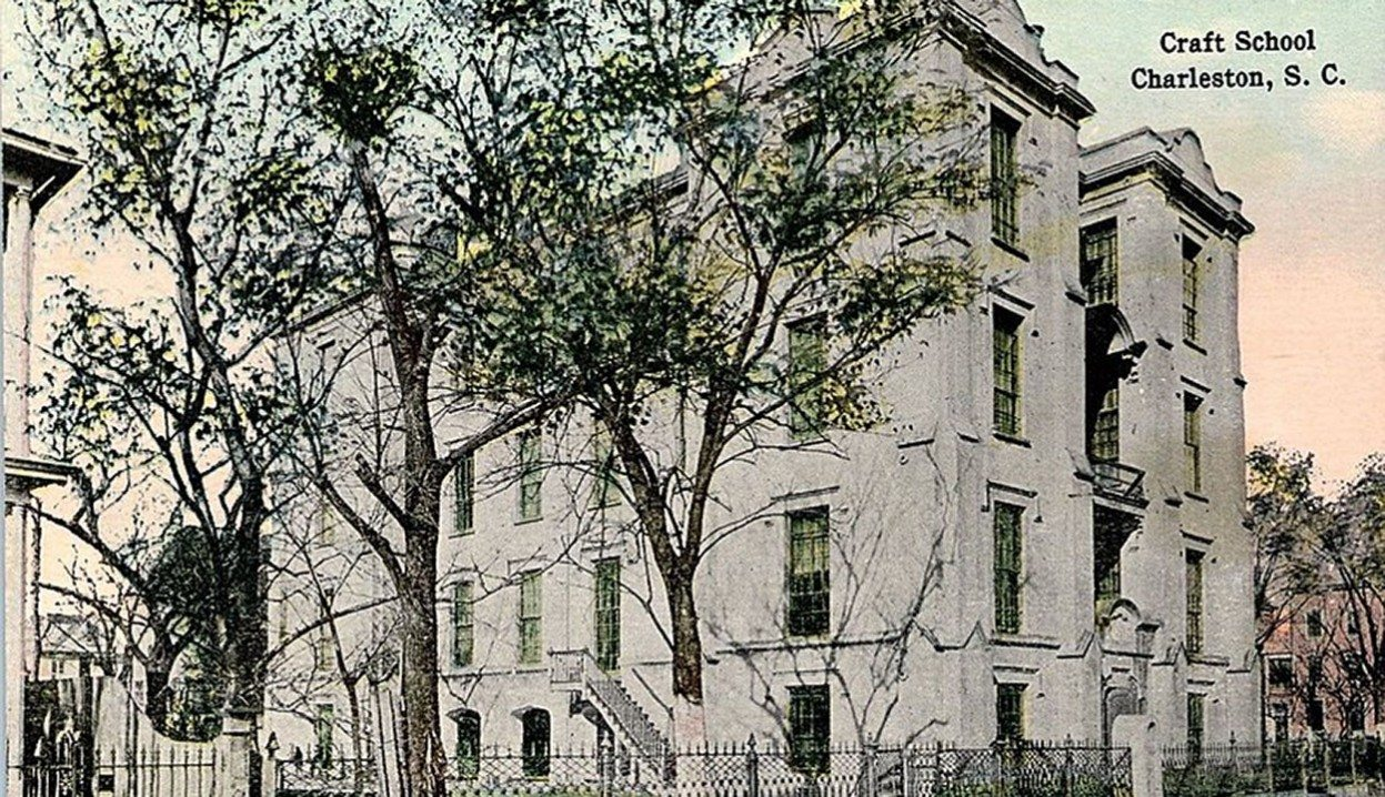 Crafts School c. 1915, now remodeled in to the Crafts House condominiums