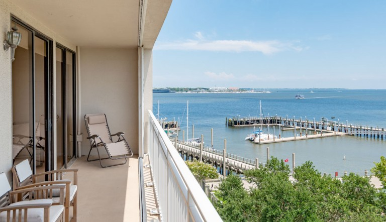 330 Concord Street 6A, Dockside balcony view