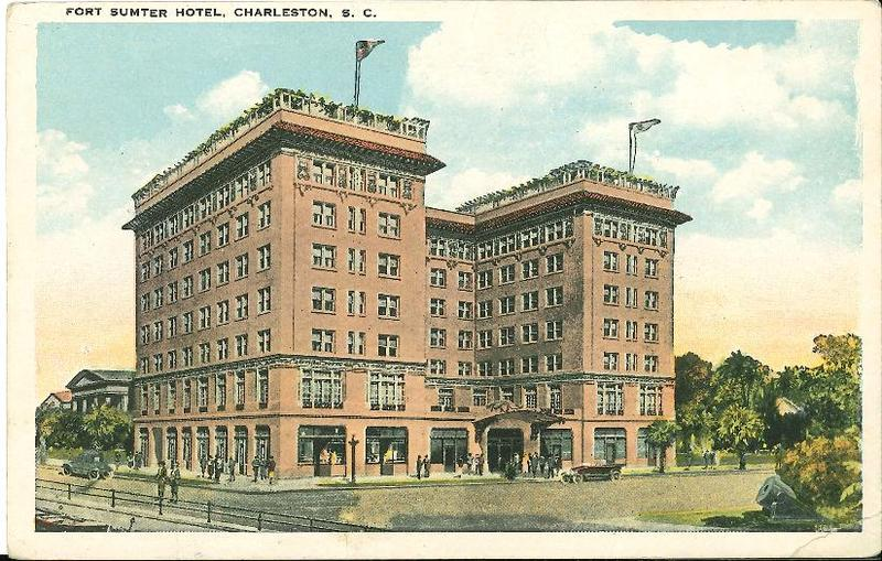Fort Sumter Hotel historic postcard