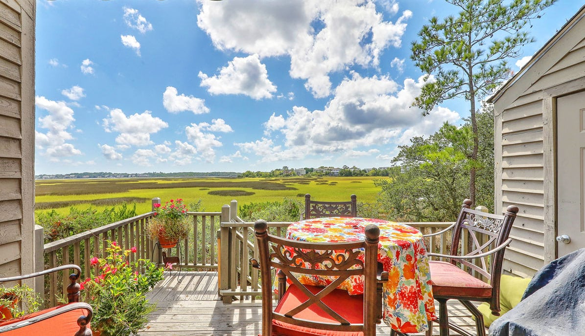 255 Lands End Drive deck with marsh views