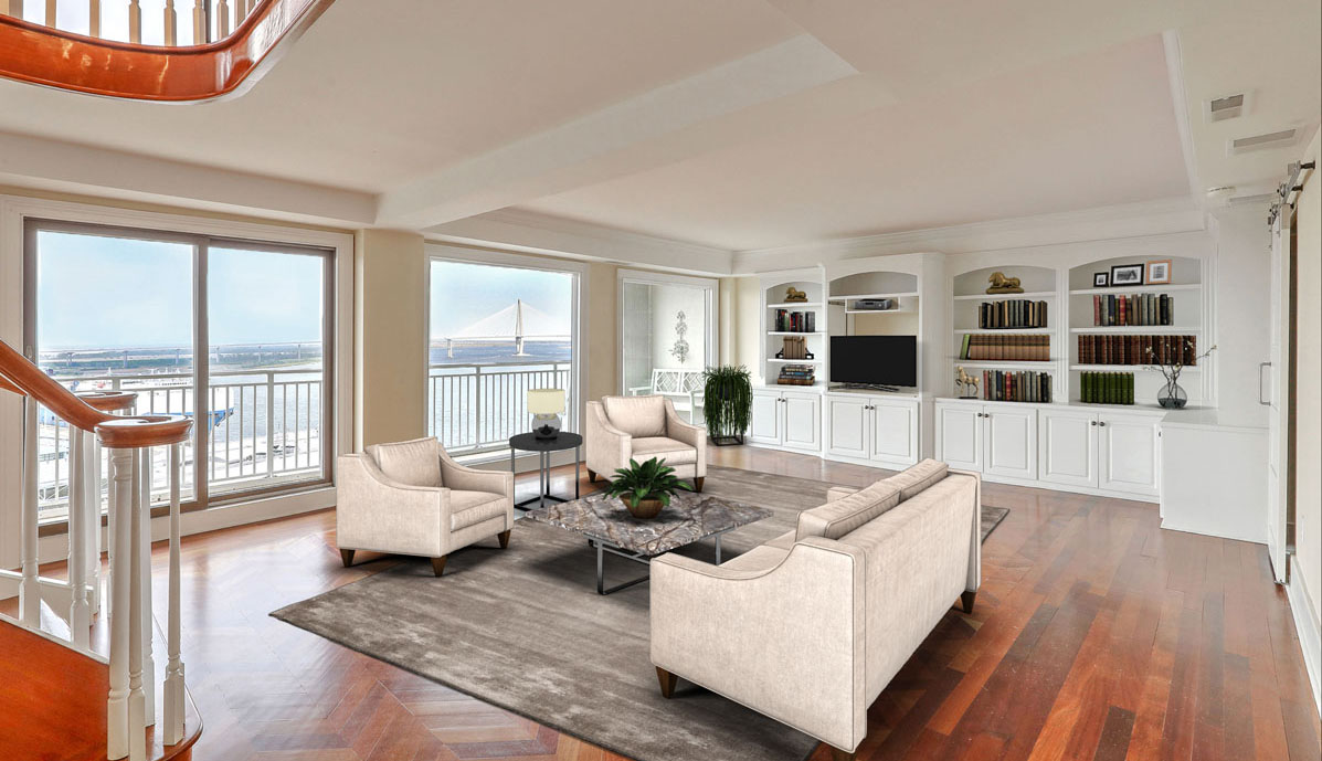 330 Concord Street 18E, Dockside living room