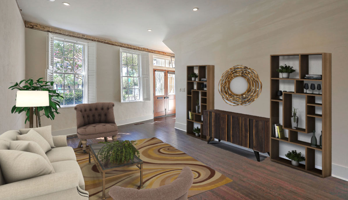 20 South Adgers Wharf living room staged