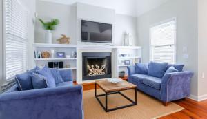 3800 Palm Blvd. fireplace