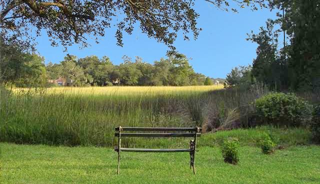 122 Chadwick Drive marsh view w bench