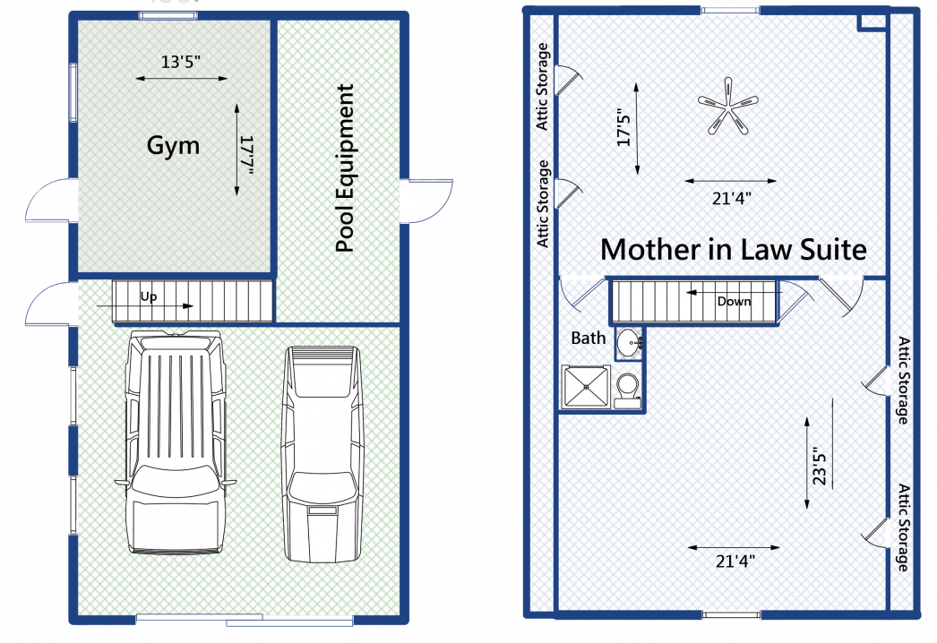2258 Shad Drive garage floorplan