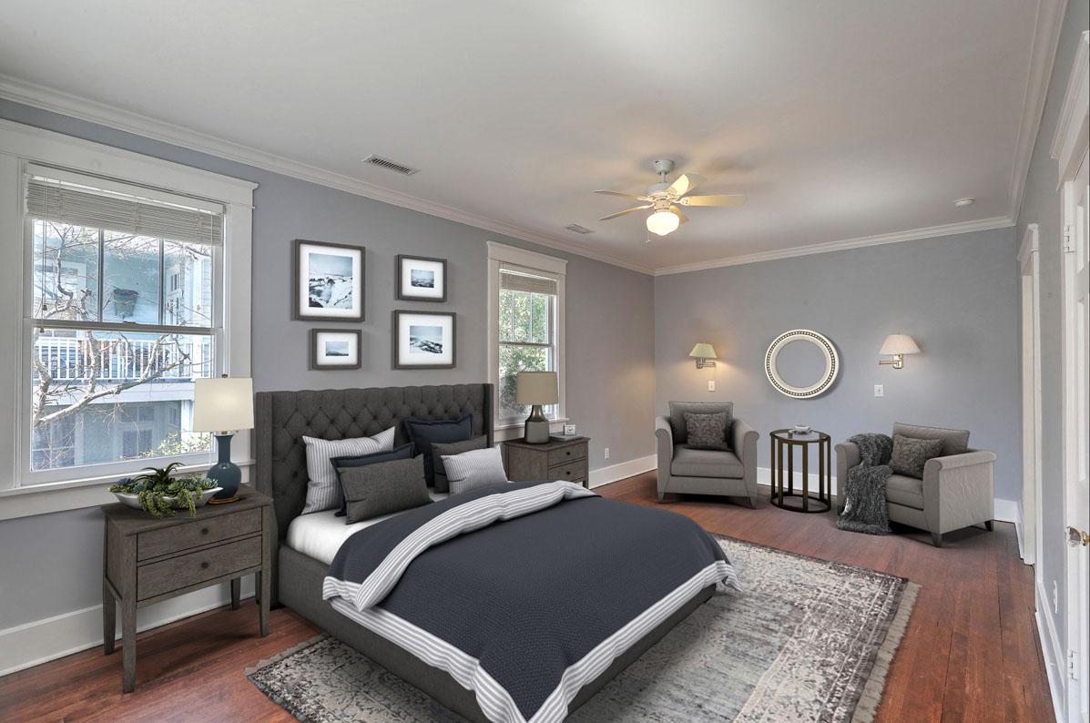 Virtual Staging Coastal Master Bedroom AFTER