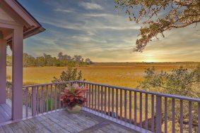 104 Marsh Elder Court, Kiawah Island deck view at sunset
