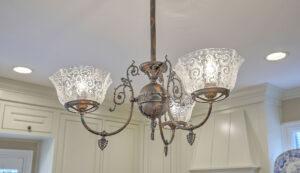 1 1/2 Gibbes Street kitchen chandelier