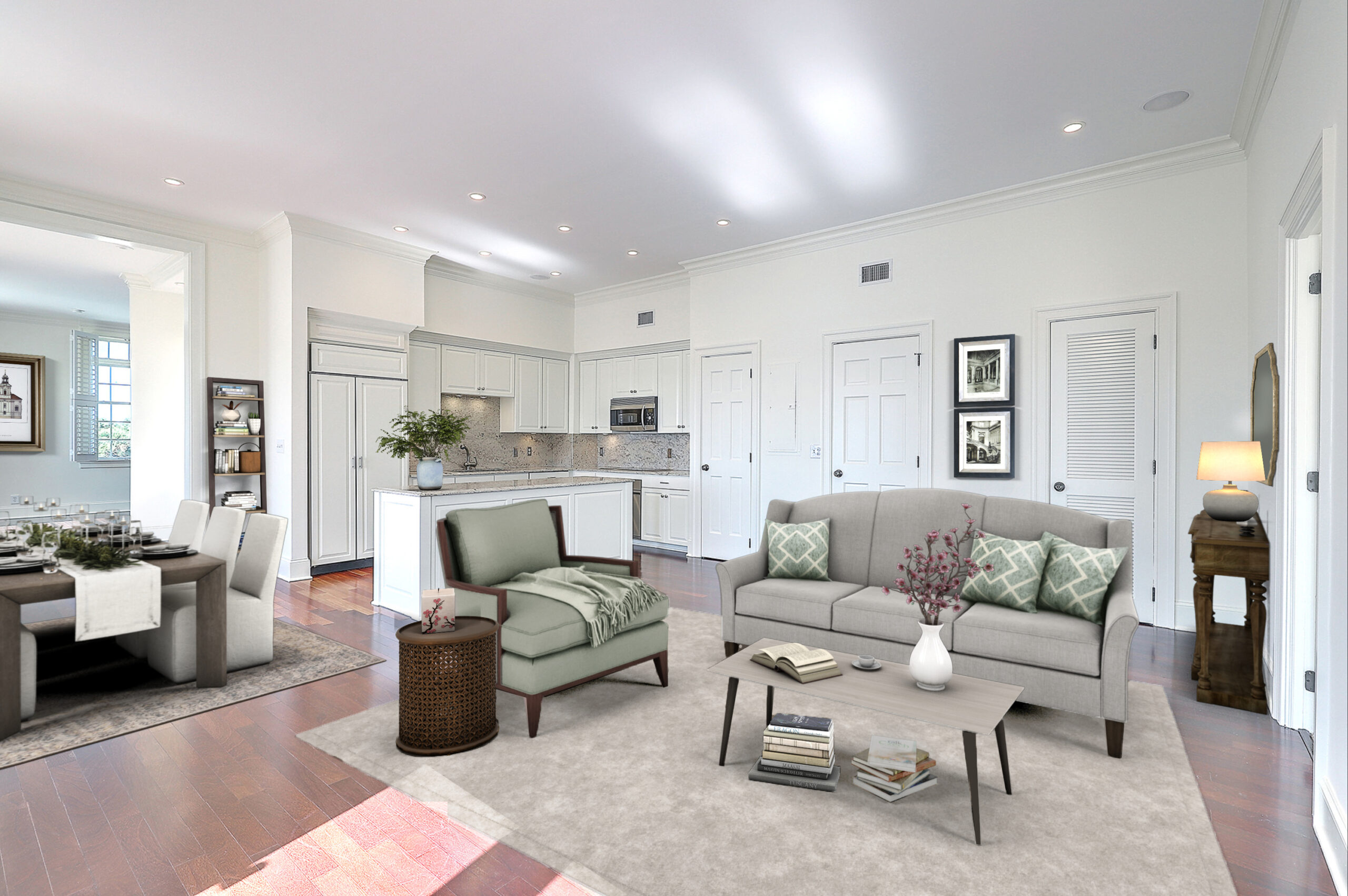 Virtual Staging Condo Great Room AFTER