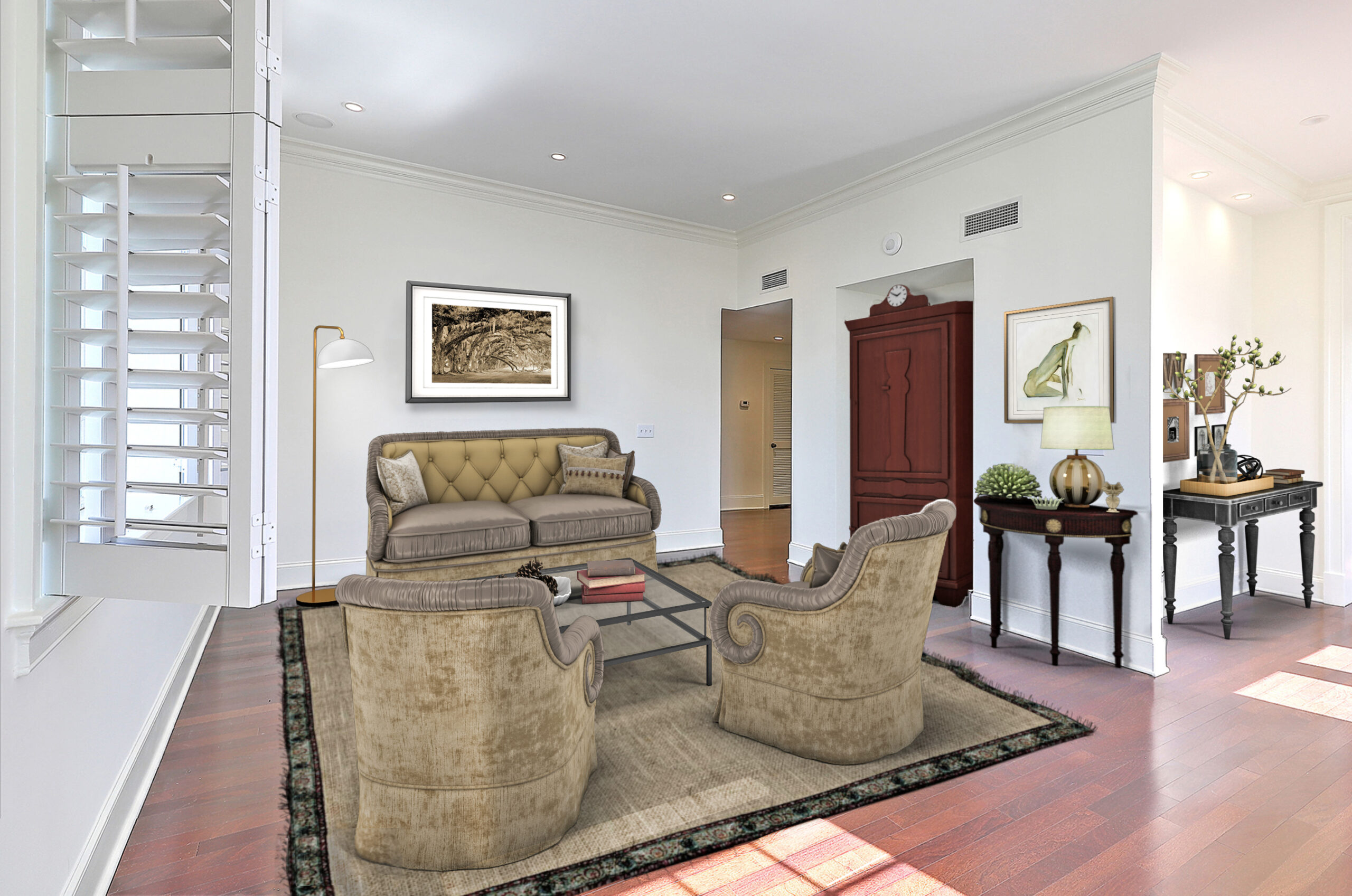 Virtual Staging Living Room AFTER