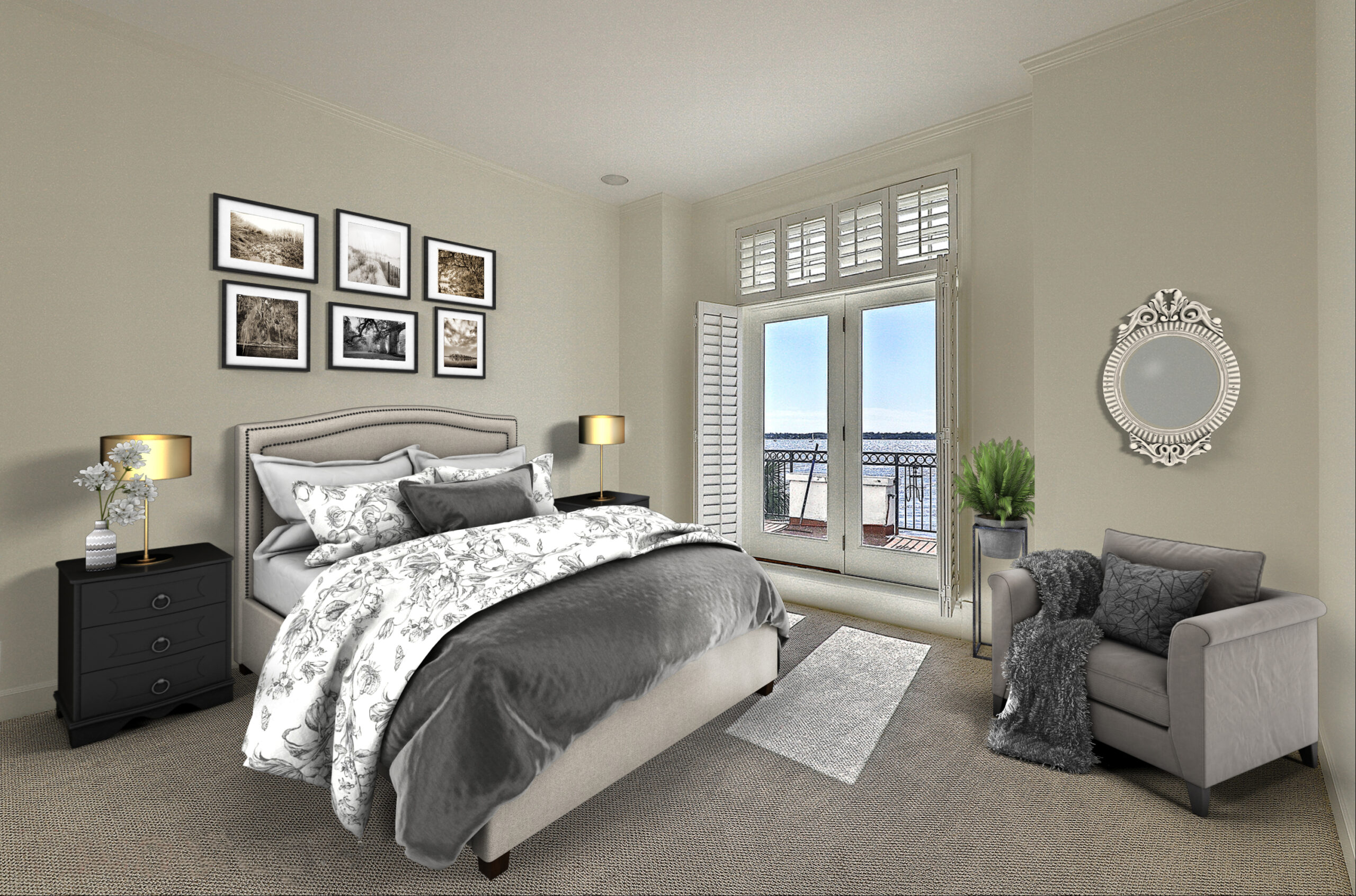 Virtual Staging Condo Bedroom AFTER