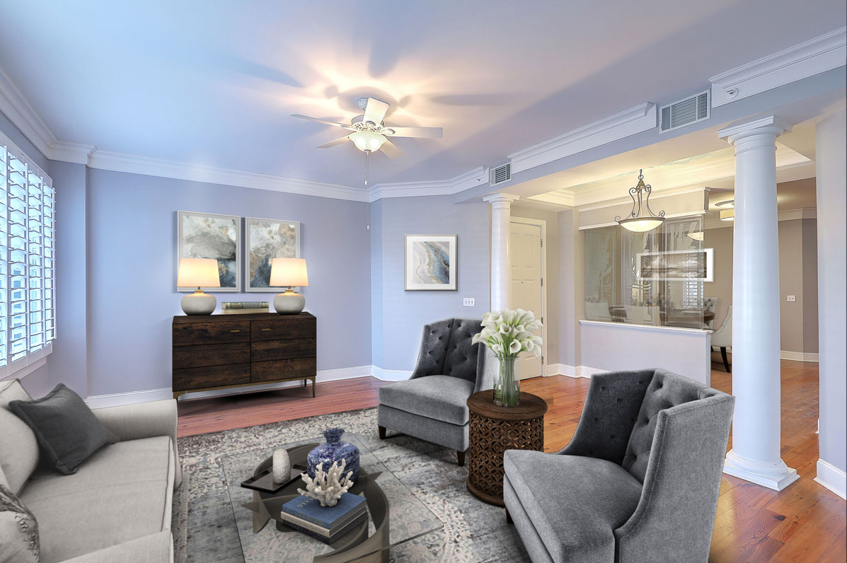 Virtual Staging 2 Wharfside Street 2D living room AFTER