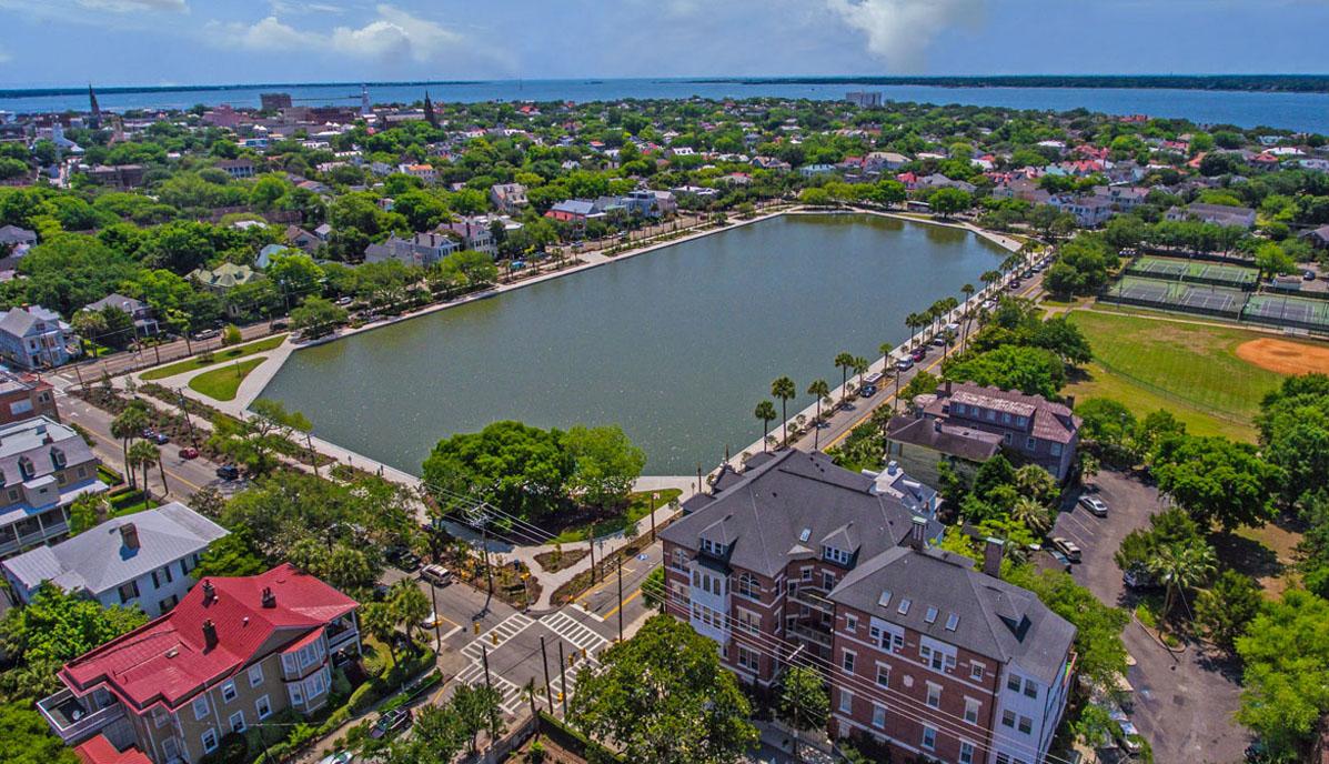 Downtown Charleston Real Estate Colonial Lake aerial