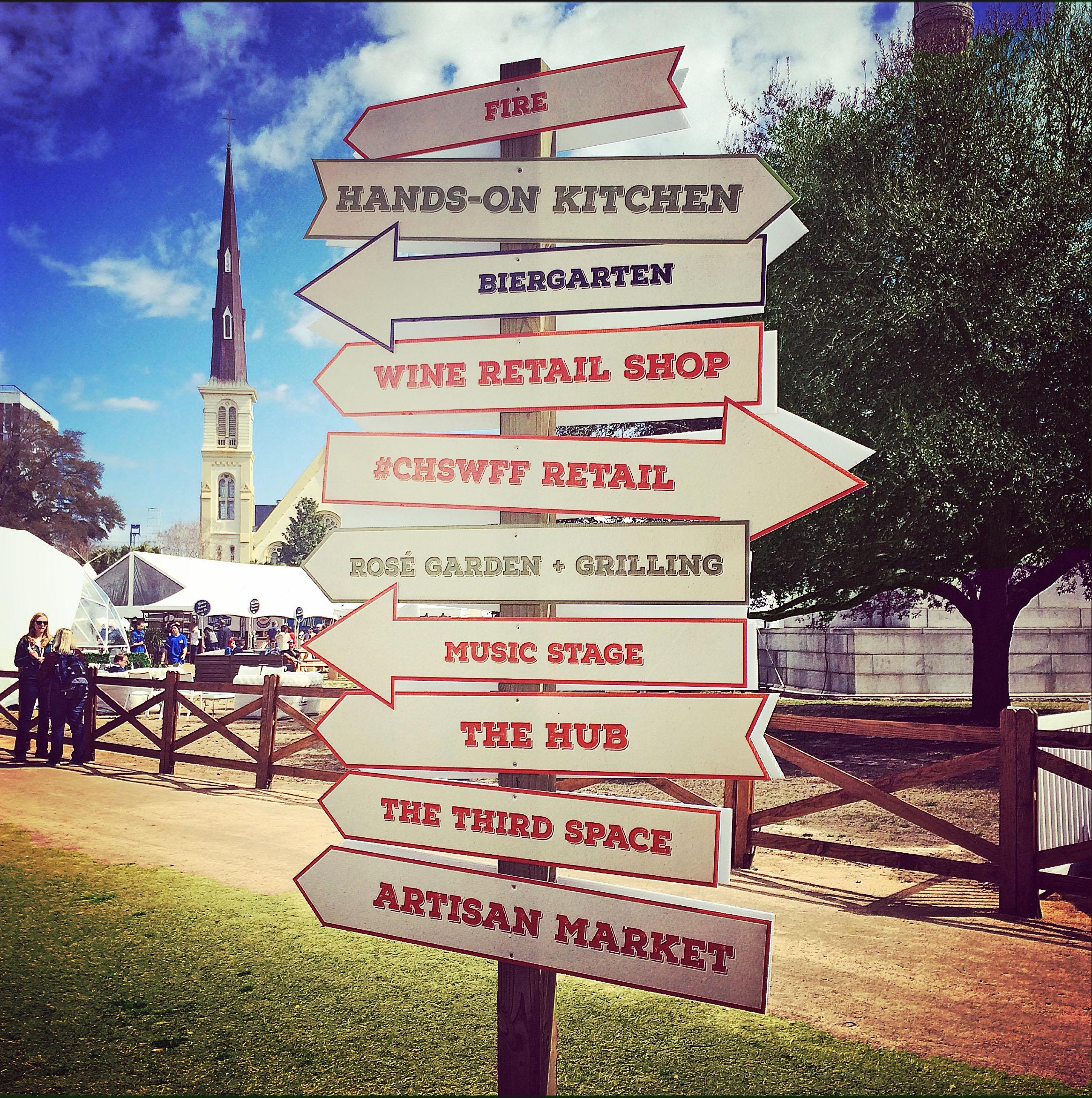 Charleston Wine & Food Festival sign