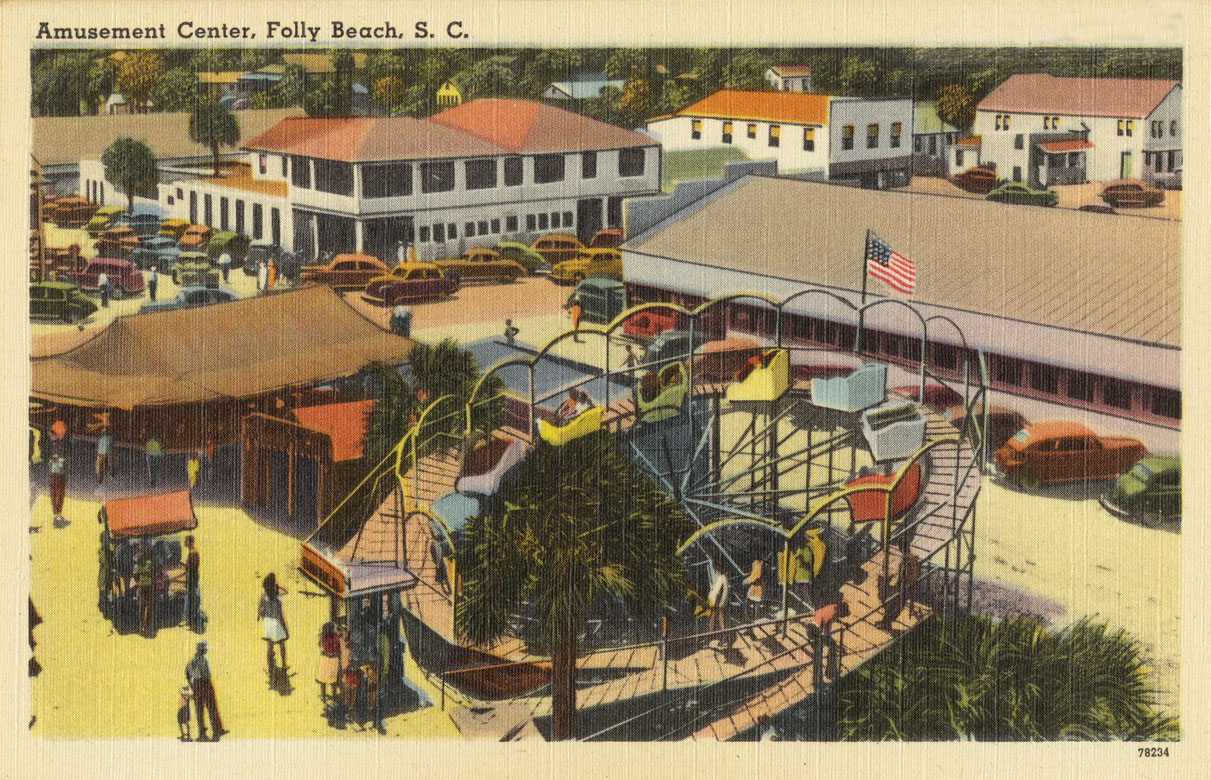 Folly amusement postcard