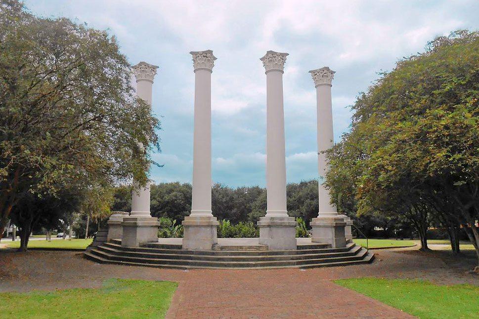 Columns of the Old Charleston Museum, Cannon Park, Harleston Village, Downtown Charleston