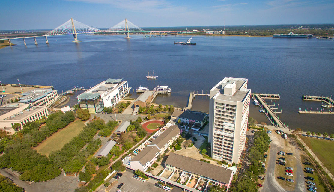 330 Concord Street, Dockside Condominiums aerial waterfront view