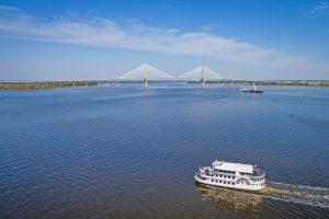 Charleston Harbor and the Ravenel Bridge