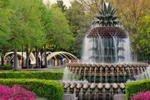 Pineapple Fountain in Waterfront Park, Charleston