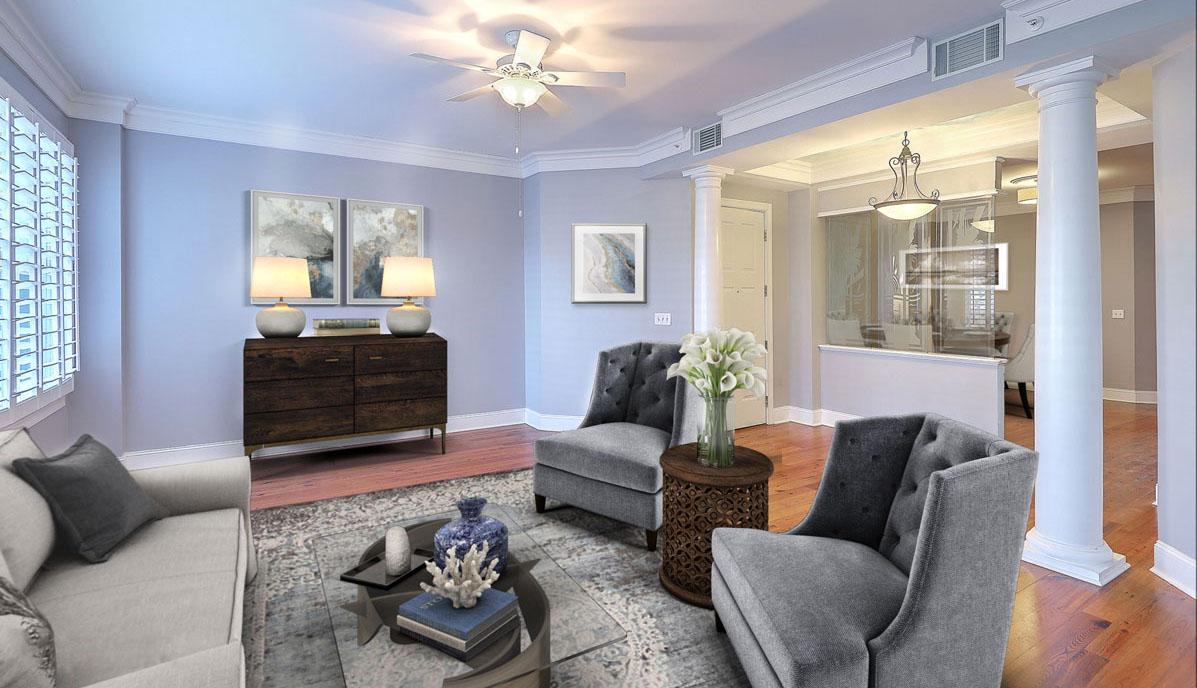 2 Wharfside Street 2D living room, Laurens Place