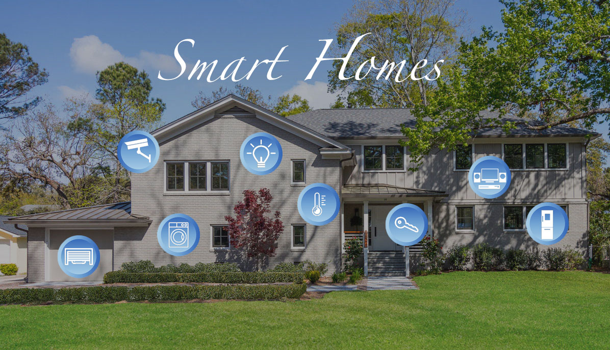 Examples of smart devices on a smart home in Charleston, SC