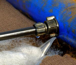 burst water pipe leaking on carpet